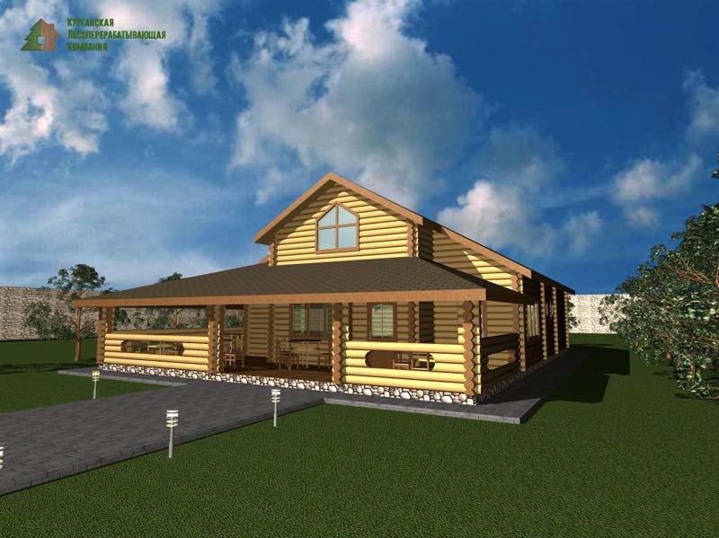 Строительство деревянных ресторанов из бревна