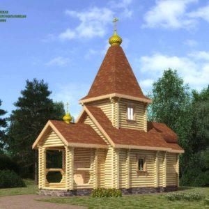 Оцилиндрованное бревно церковь
