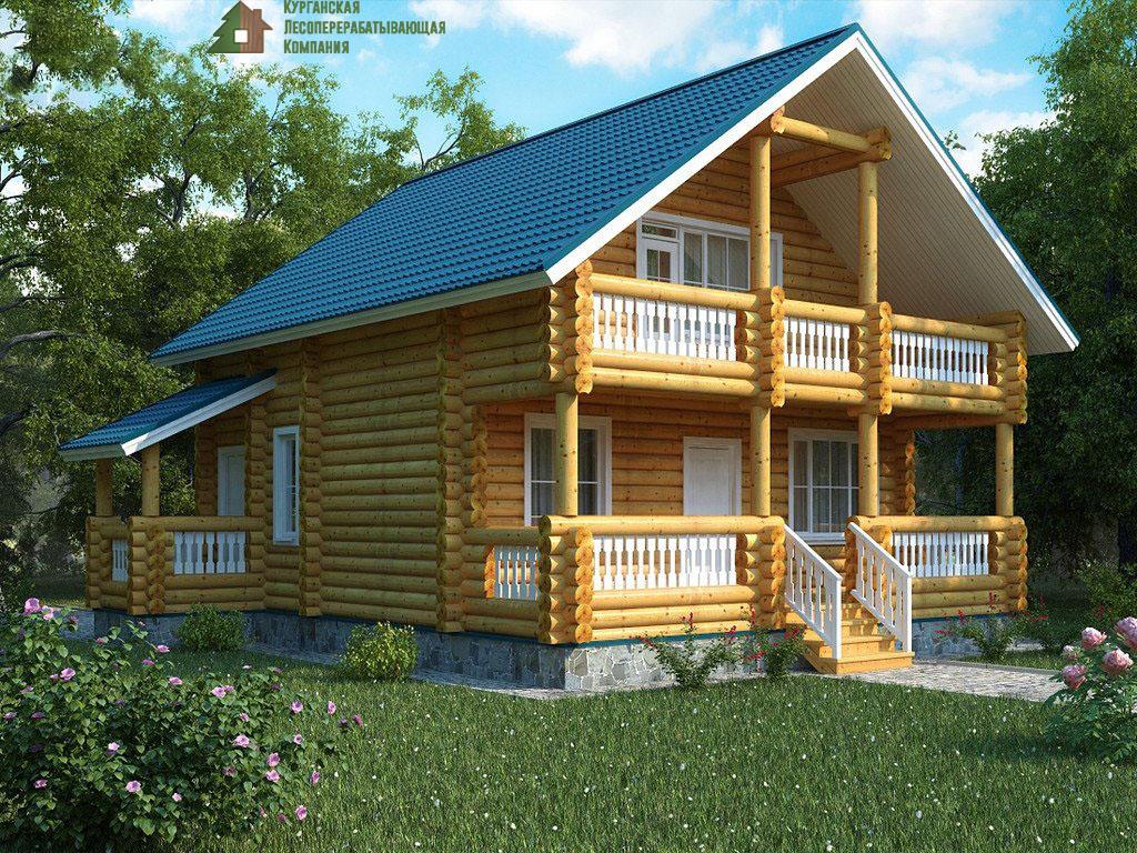 Проект дома из оцилиндрованного бревна 001