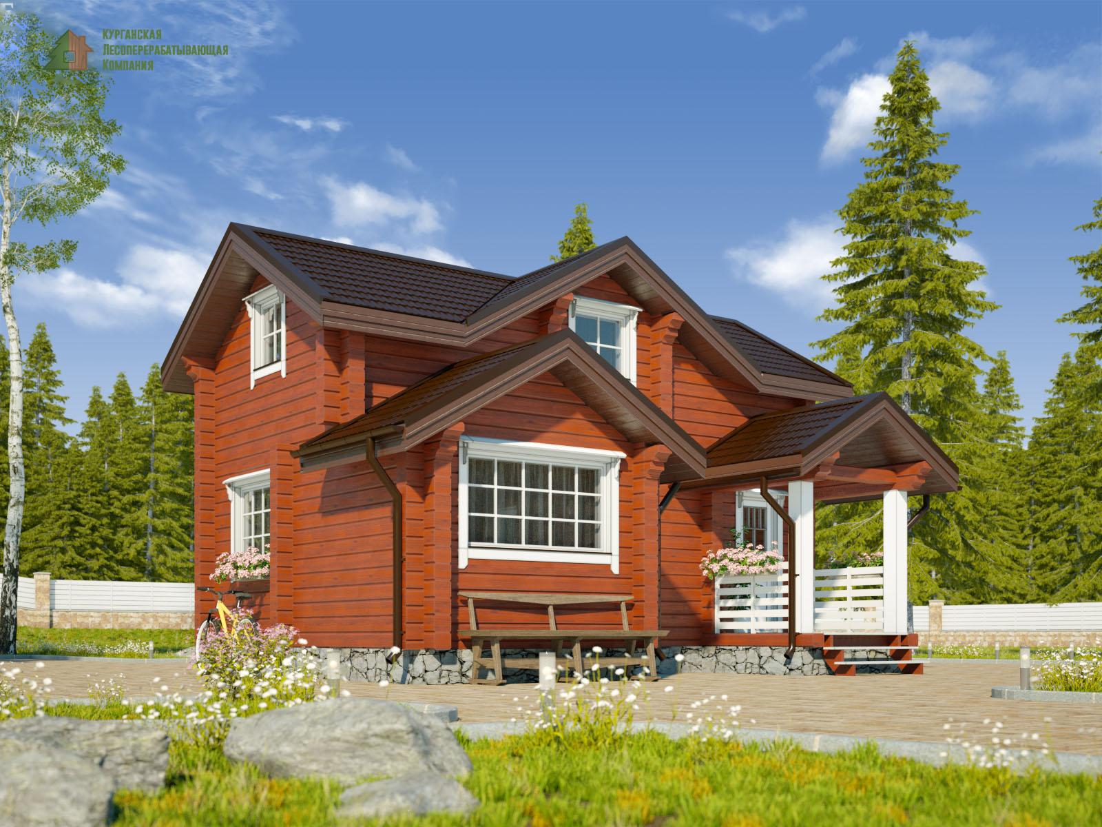 Проект дома из профилированного бруса 001
