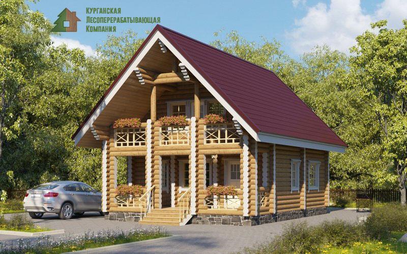 Проект дома из оцилиндрованного бревна 002