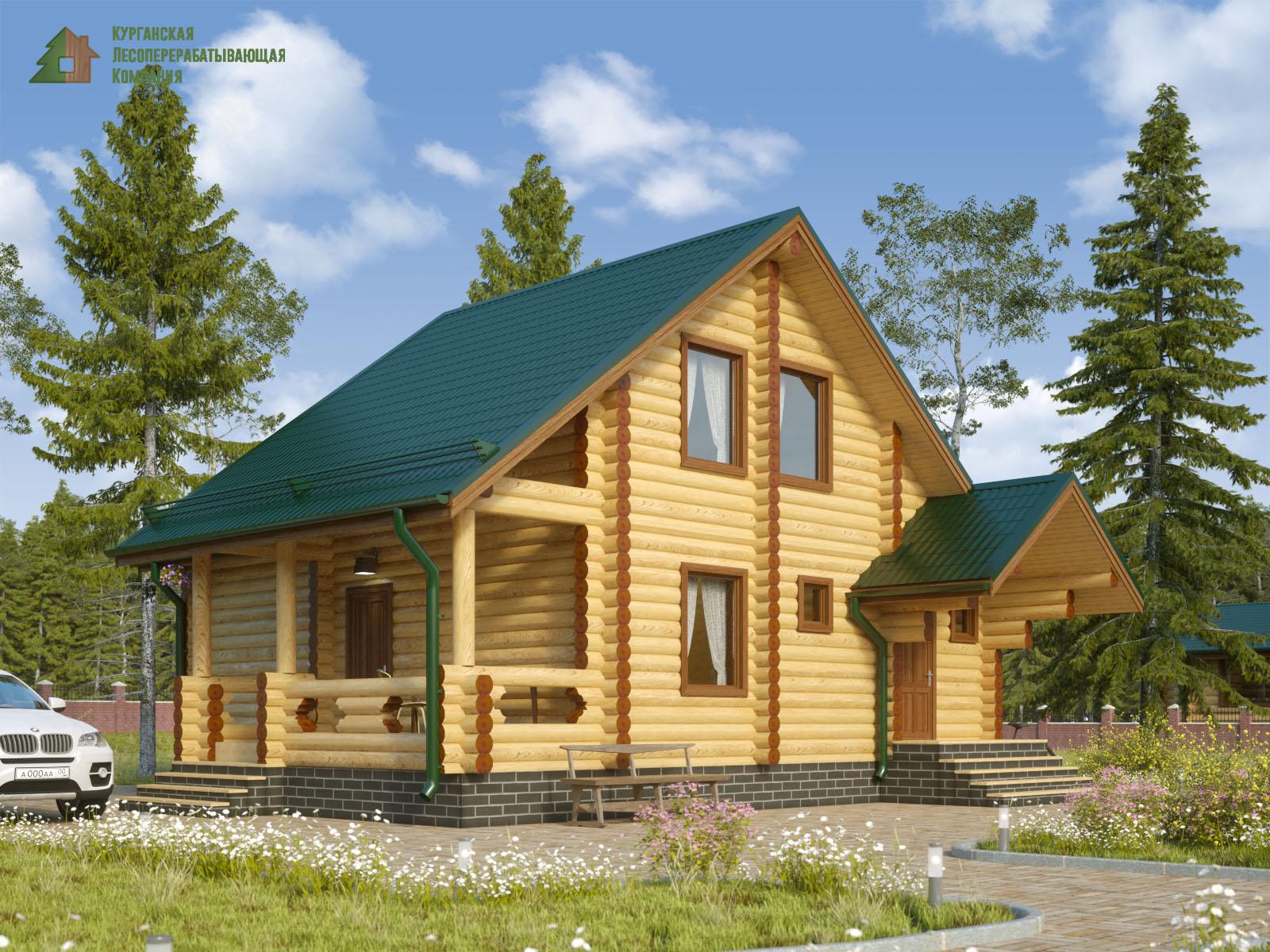 Проект дома из оцилиндрованного бревна 003