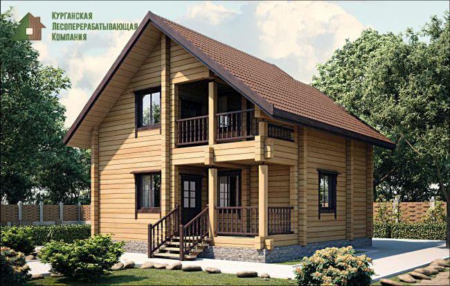 Проект дома из профилированного бруса 002