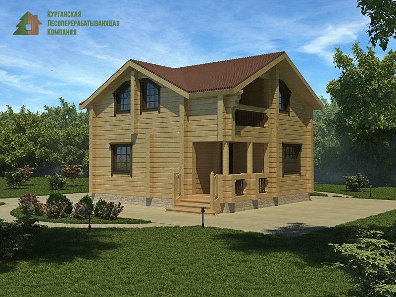 Проект дома из профилированного бруса 003