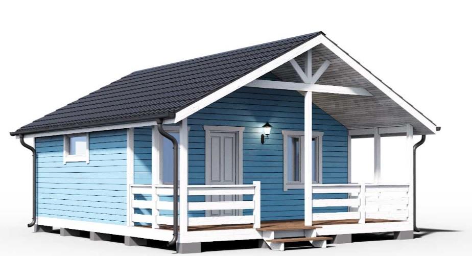 Проект каркасного дома 001
